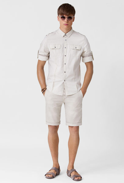 Shorts White Shirt Men For Men The Straight Slim